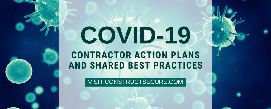 COVID-19 Contractor Action Plans and Shared Best Practices