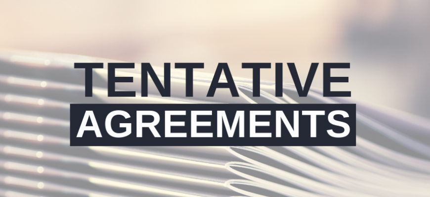 Tentative Agreements button