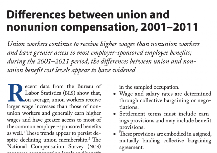 Differences between union and nonunion