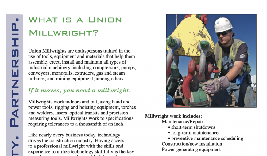 What is a millwright brochure graphic
